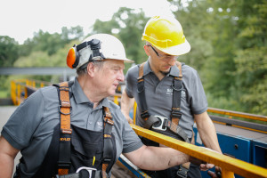 Kranwartung Baustelle Hugstetten Schaller Aug15